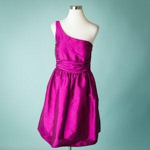 Eliza J 12 Pink One Shoulder Cocktail Dress